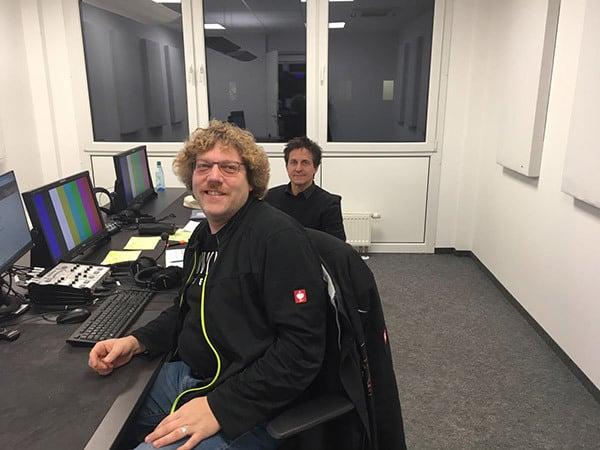 Andreas Huber (vorne) und Sebastian Bernsdorff