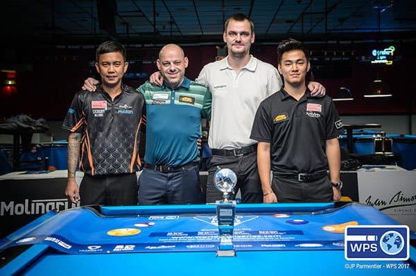 From left, Lee Vann Corteza, Darren Appleton, Ruslan Chinakov and Johan Chua.