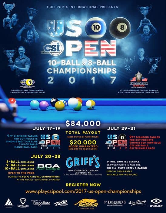 US Open 10 Ball & 8 Ball Championships 2017