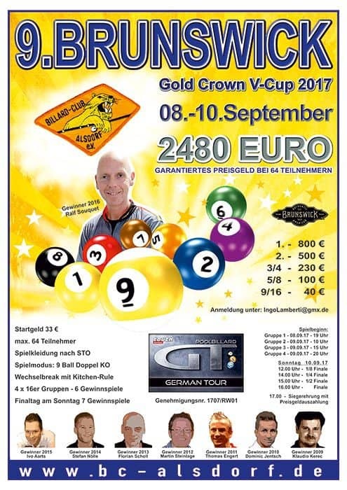 9. Brunswick Gold Crown V Cup 2017